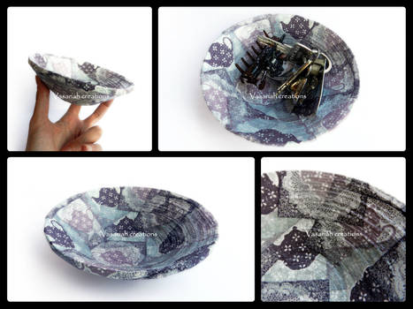 Handmade recycled paper bowl