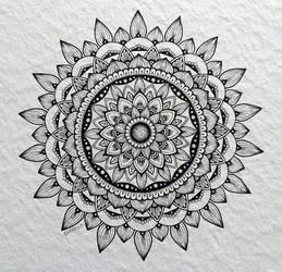 Sunflower mandala by OmbryB