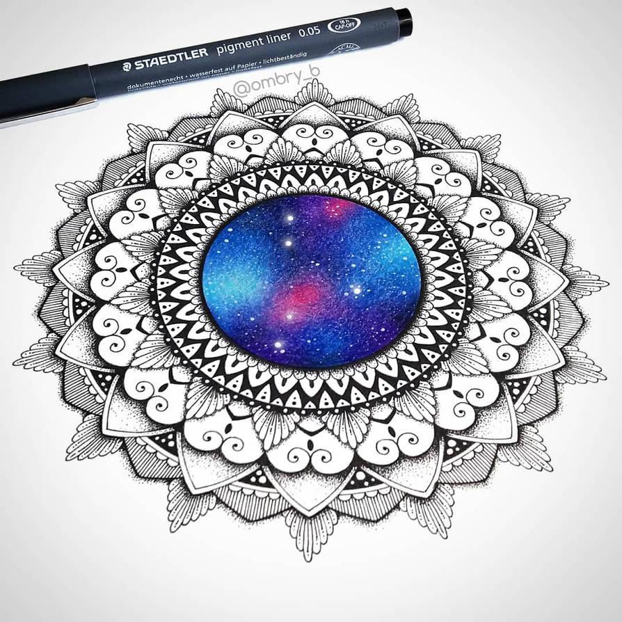 Galaxy mandala by OmbryB