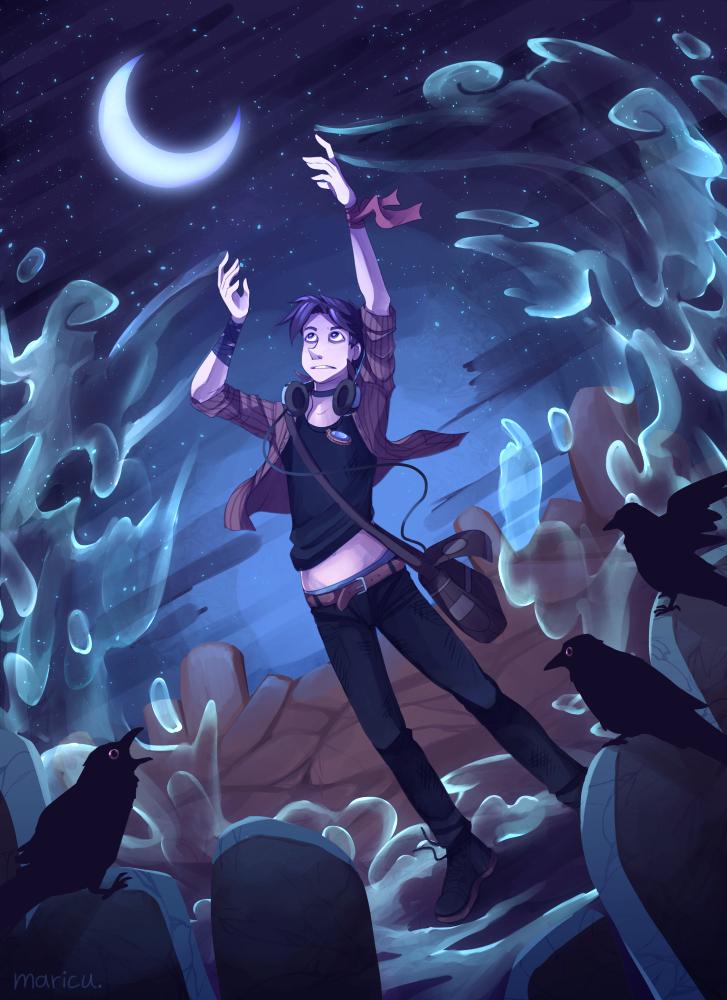 Moonlit Night by Maricu-Mana