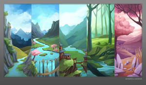 Background Collection by Maricu-Mana