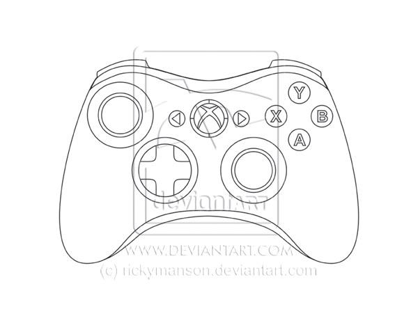 xbox 360 controller sketch - photo #31