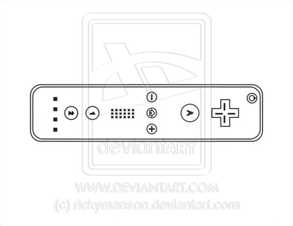 Wii Controller Drawing Vector  wii controller lineartWii Controller Drawing