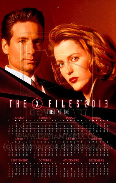 X Files Calendar : X files wall calendar by rickymanson on deviantart