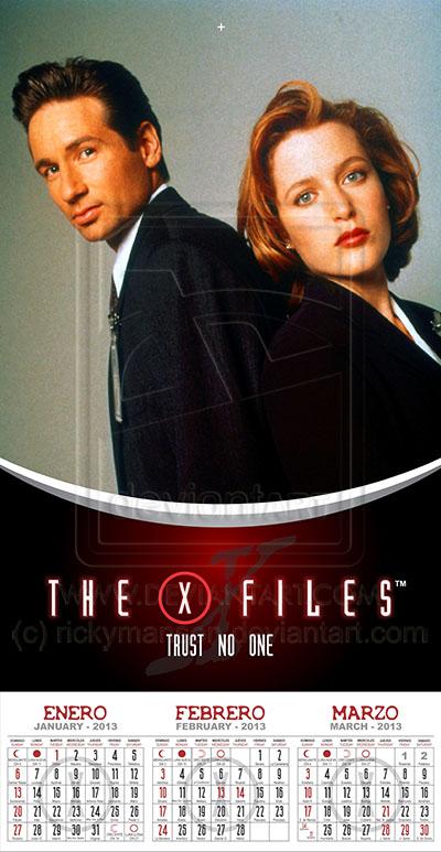 X Files Calendar : X files wall calendar stapled mexican style by