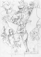 Batman rogues by Reiver85