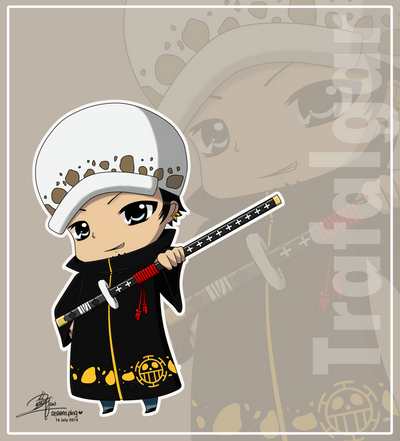 Trafalgar Law Chibi by SeReeN-F on DeviantArt
