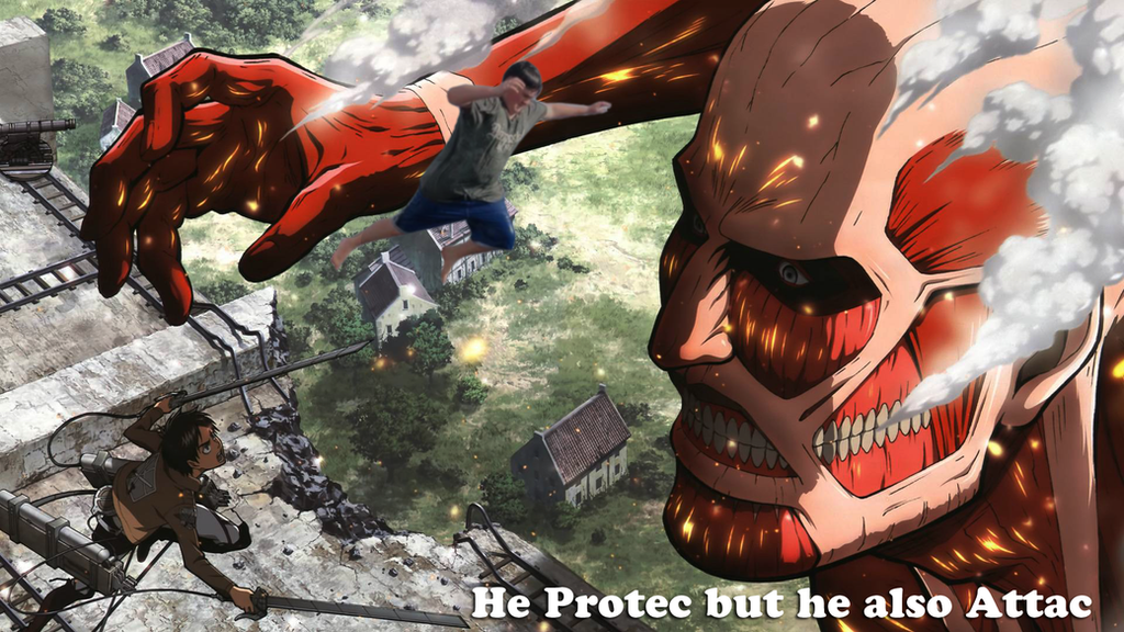 He Protec but he also Attac by DemoniumAngel