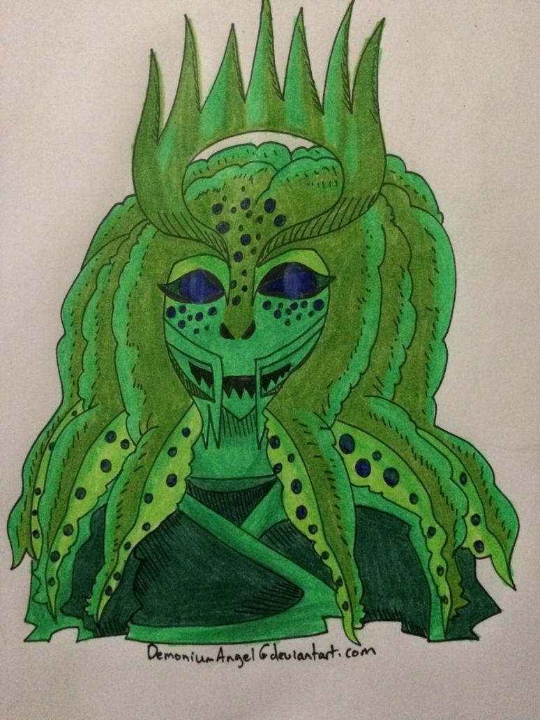 Green OC by DemoniumAngel