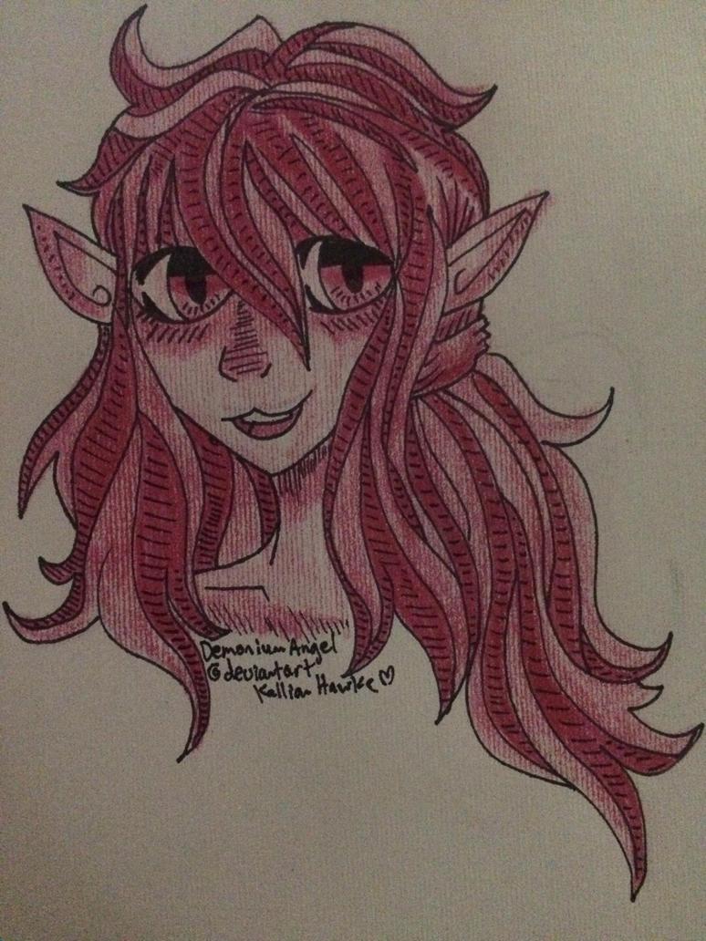 One colour doodle by DemoniumAngel