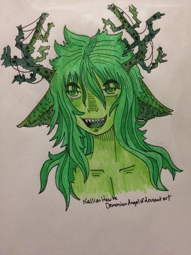 Shades of green doodle by DemoniumAngel