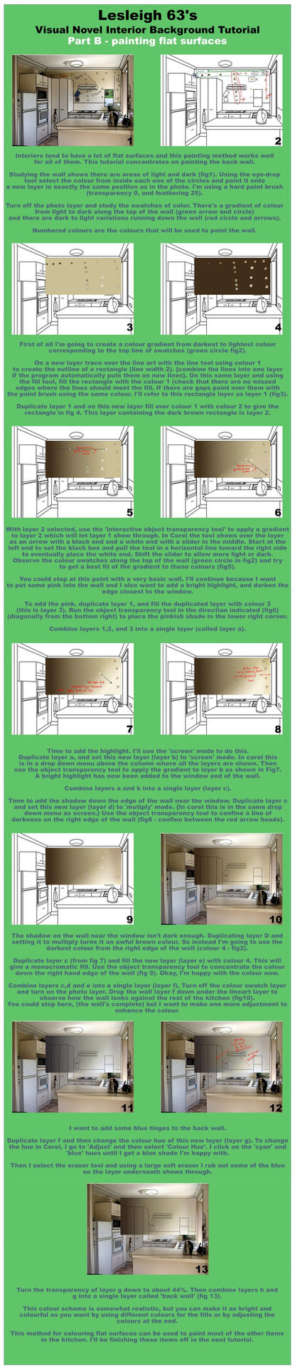 VN 2d background interior tutorial - Part B by Lesleigh63