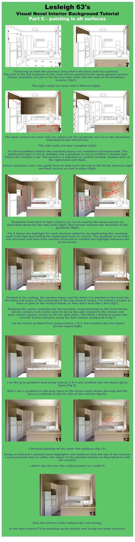 VN 2d background interior tutorial - Part C by Lesleigh63