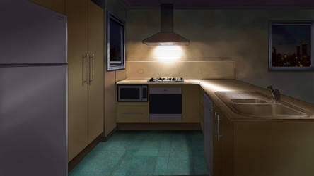 Apartment at night
