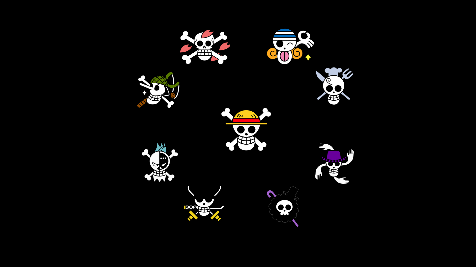 straw hat pirates by lebare on deviantart