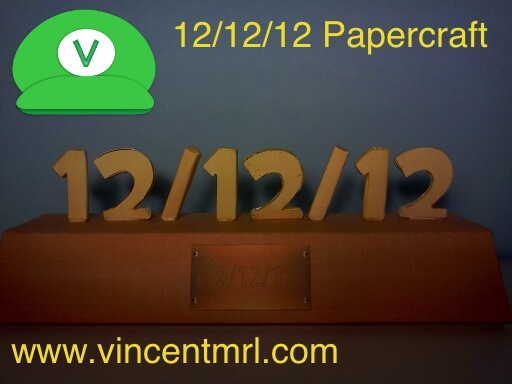12/12/12 Papercraft by Vincentmrl