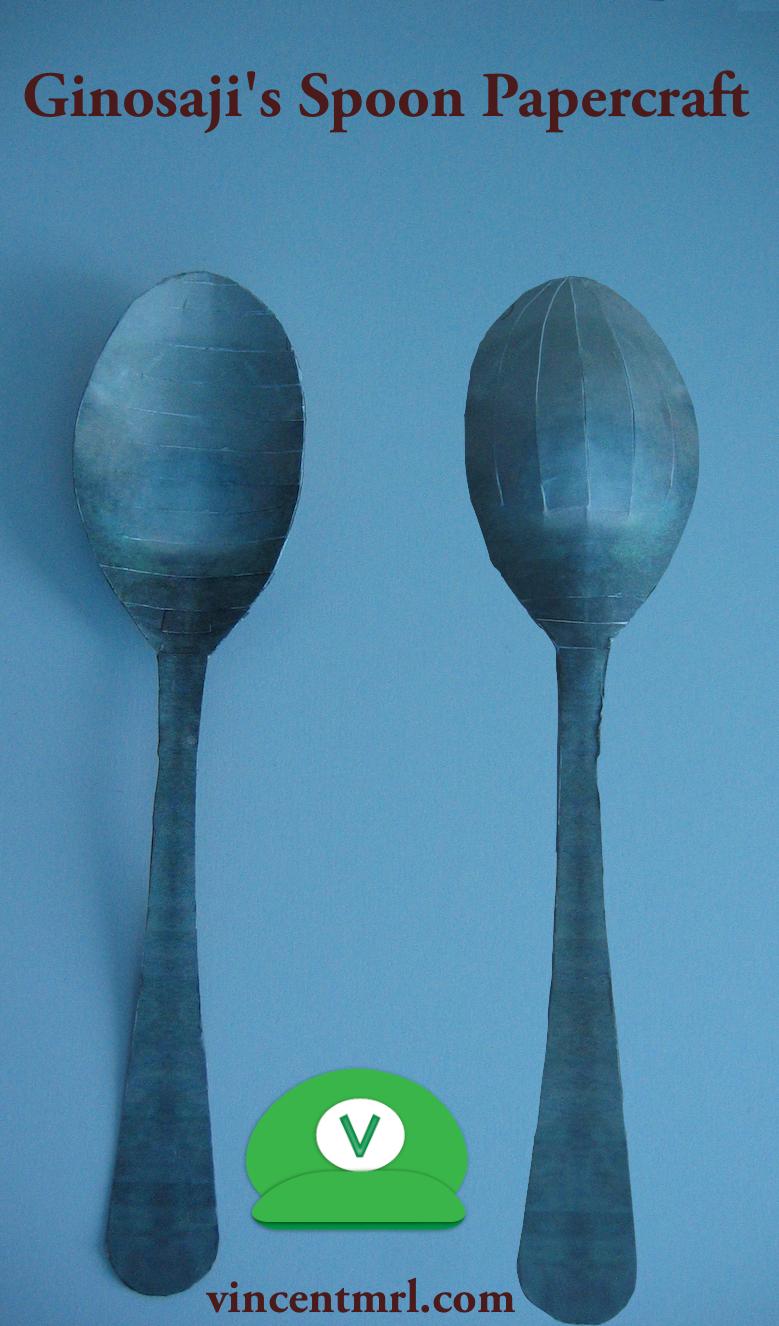 Ginosaji's spoon papercraft by Vincentmrl
