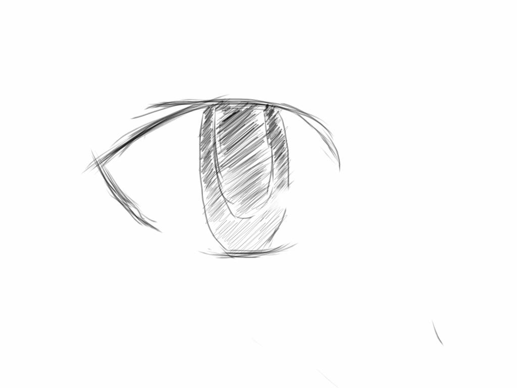 Manga eye sketch by Vincentmrl