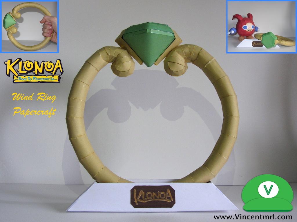 Klonoa Lifesized Wind Ring Papercraft by Vincentmrl