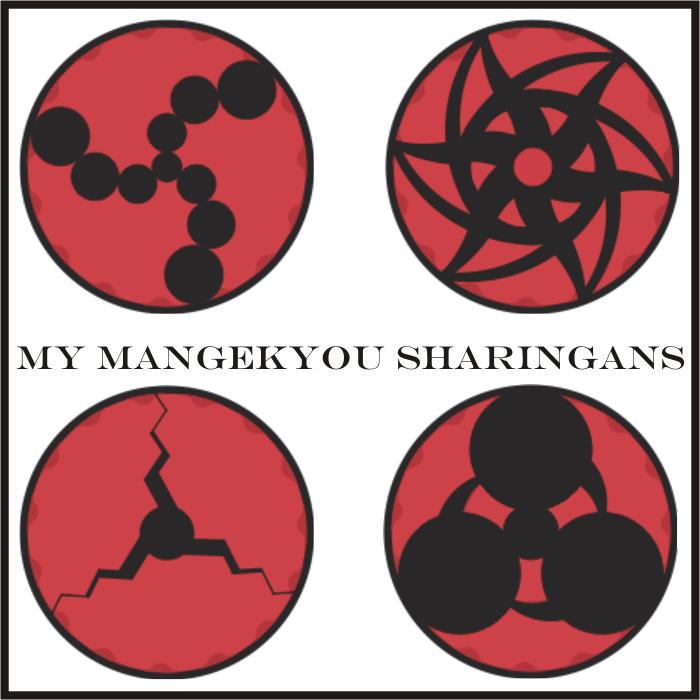 Mangekyou Sharingans by JinseiAsakura