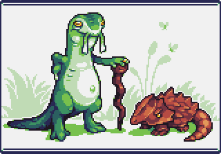 Old salamander with lizard pet by Dr-Shellos