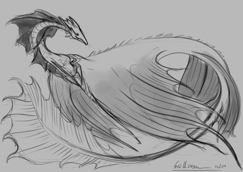 Aquatic Creature sketch by DigitalCrest