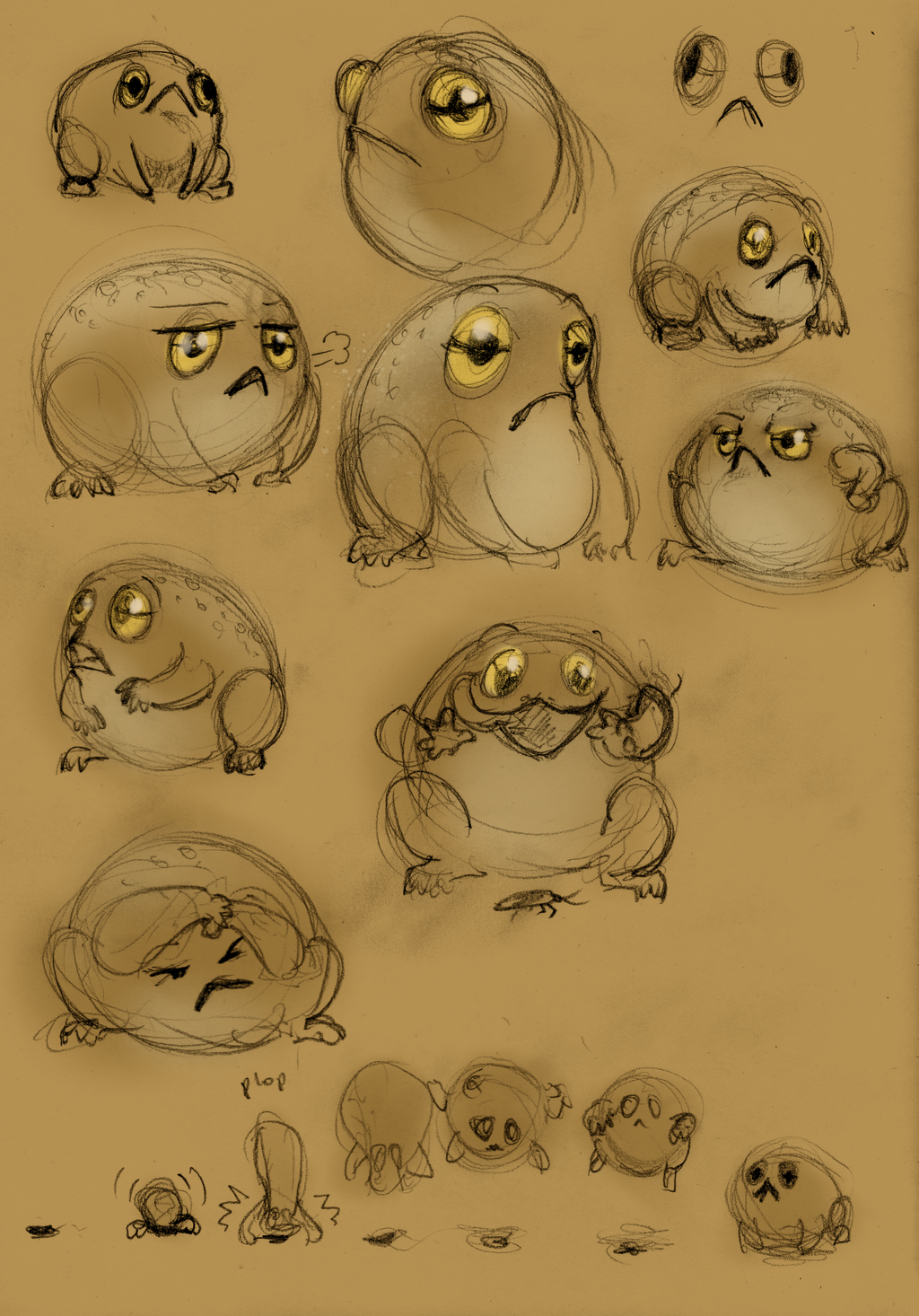 Frog sketches by DigitalCrest