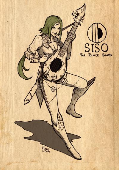 Siso the Black Bard by t0nkatsu