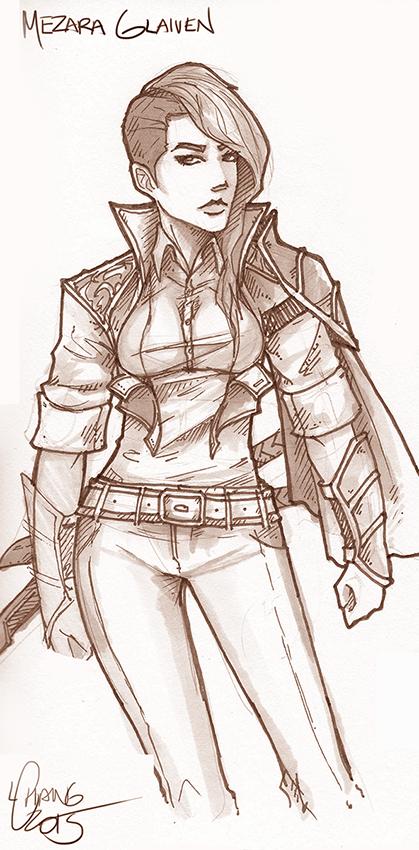 BGO: Mezara sketch by t0nkatsu