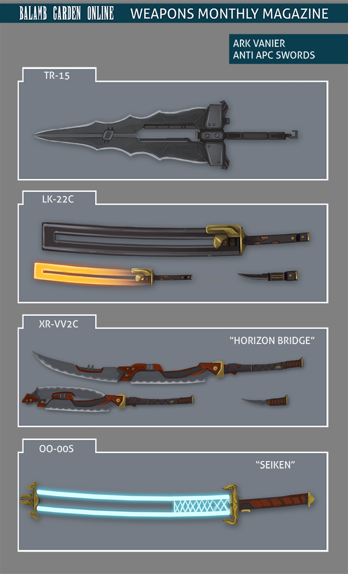 BGO: Weapons Monthly (Ark) by t0nkatsu