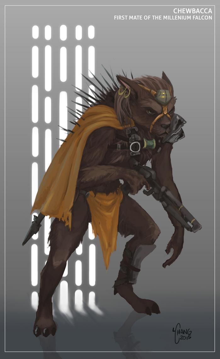 Chewbacca re-imagined by t0nkatsu