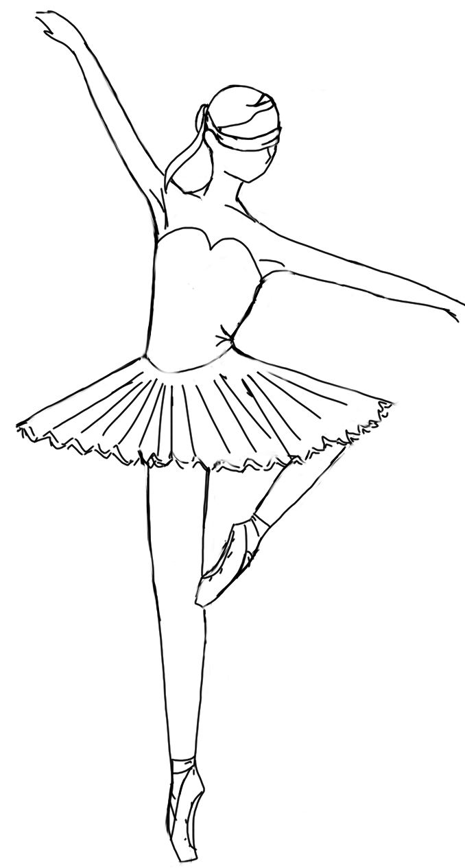 Coloring Pages Ballet Positions