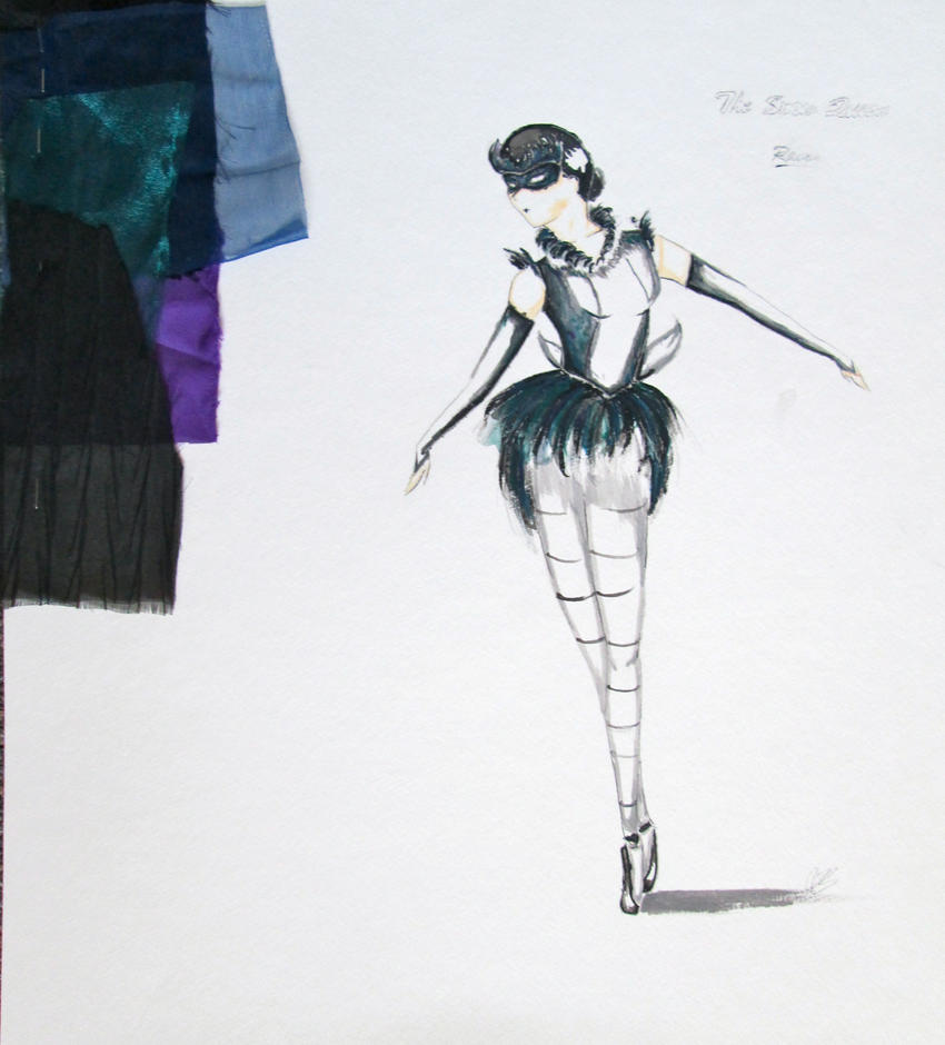 Raven Snow Queen Ballet Costume Design by MissyRayney