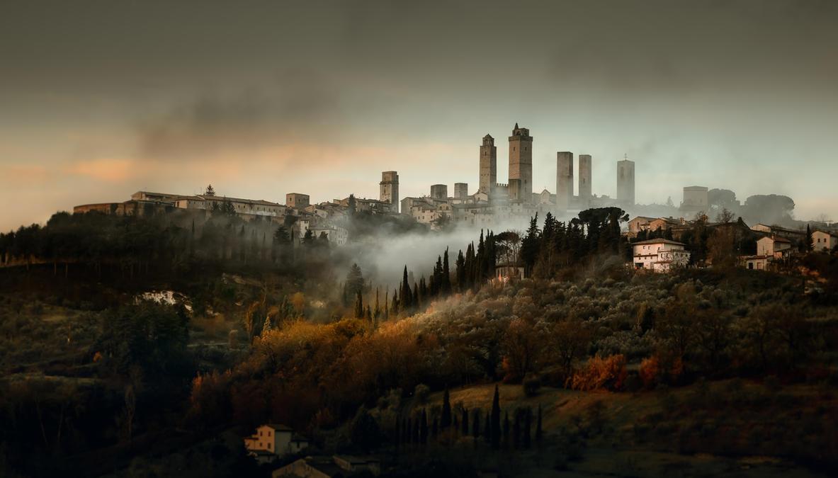 San Gimignano view by AlexGutkin