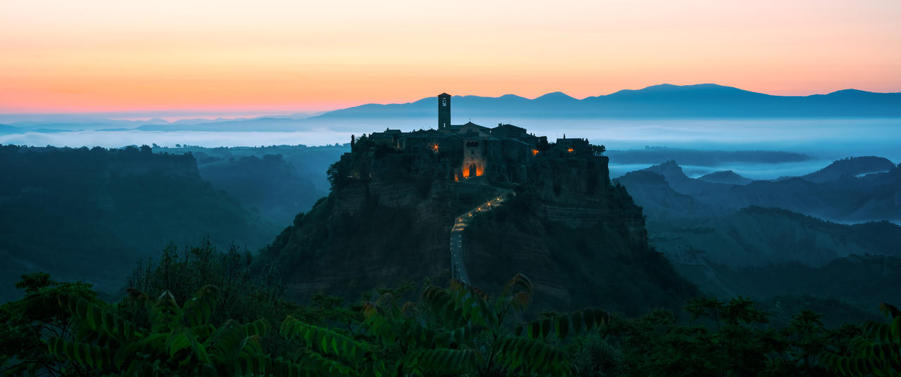 Civita morning panorama by AlexGutkin