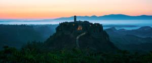 Civita morning panorama