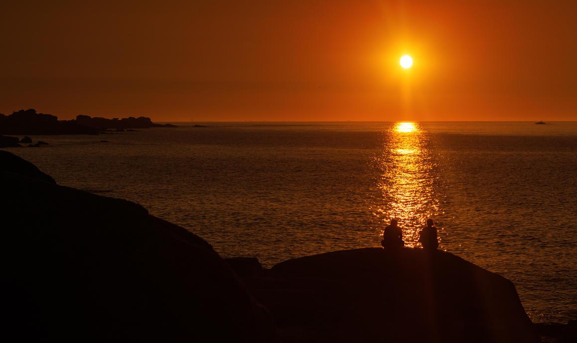 l'amour au coucher du soleil by AlexGutkin