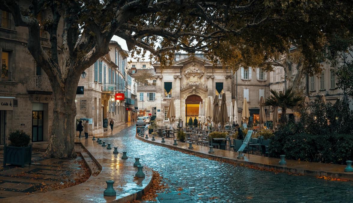 Avignon rain by AlexGutkin