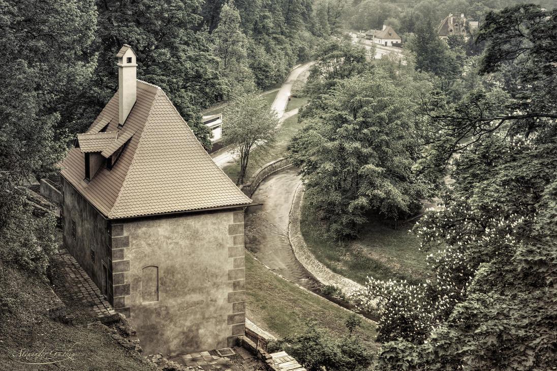 A little house near a stream by AlexGutkin