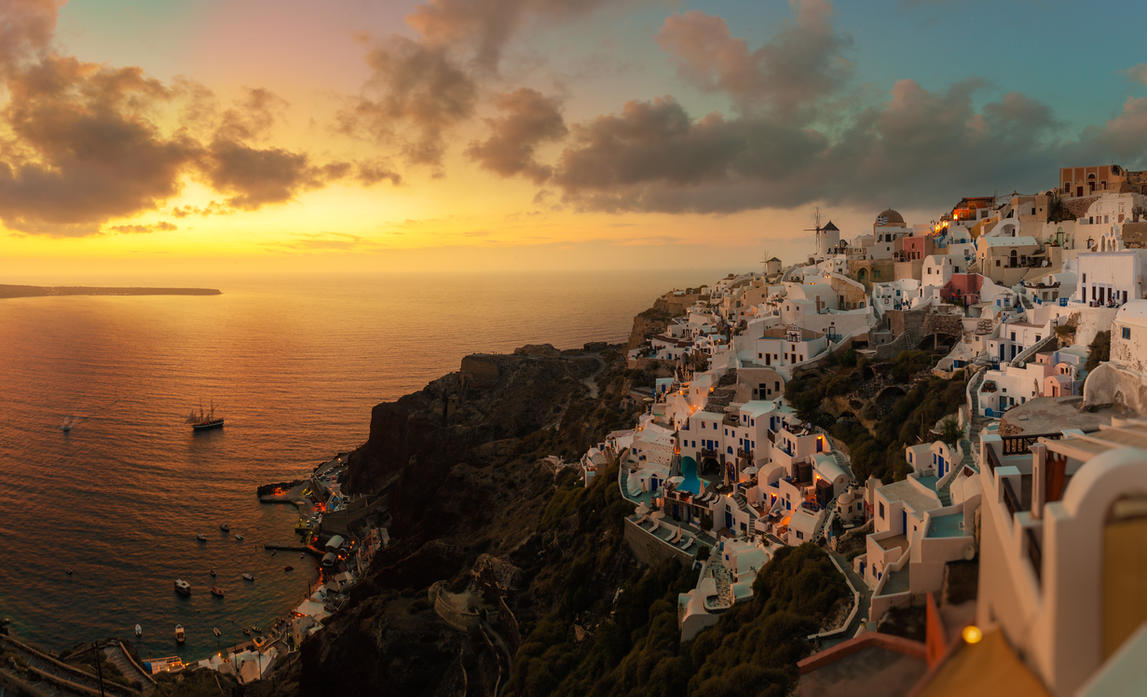 New Oia sunset by AlexGutkin