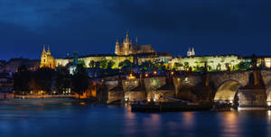 Praha on night