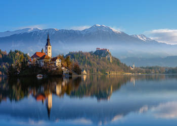 Evening on the Bled by AlexGutkin