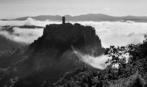 Civita foggy morning