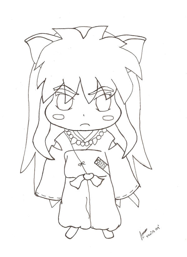 chibi inuyasha coloring pages - photo#15