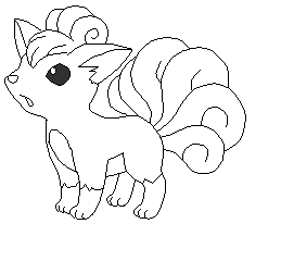 Pokemon Vulpix Coloring Pages Images Pokemon Images