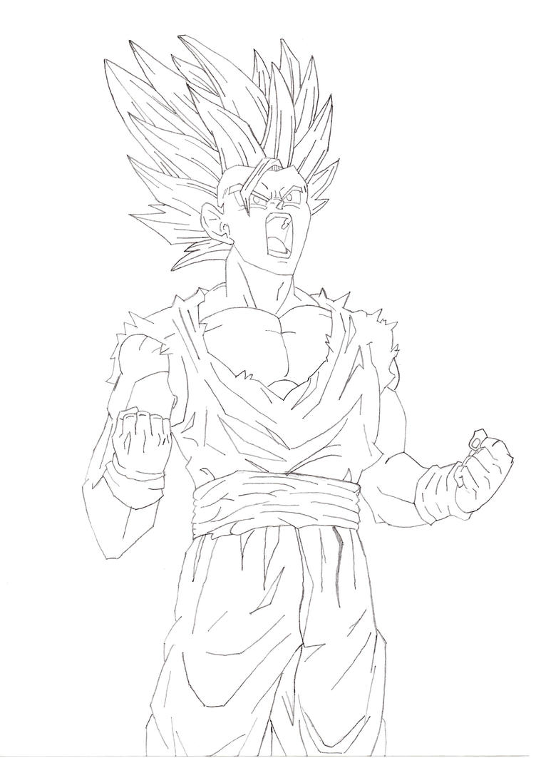Ssj2 Gohan Free Coloring Pages