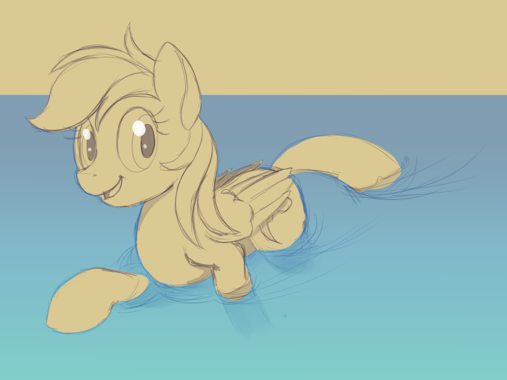 2015 0712 Rainbow Dash Sketch by tehflah