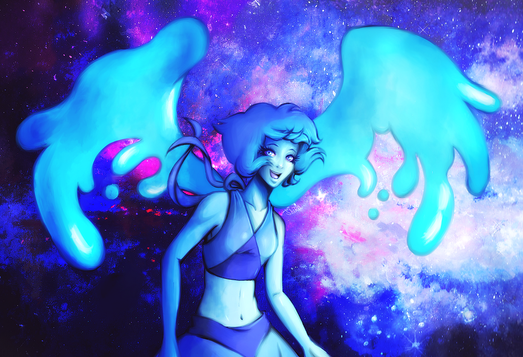 A redraw of ... Lapis Lazuli~~~ (???), you fled into the bottom of the sea Lapis Lazuli, you were so mad, but then you came around to me ( 8 )  I love Blue, and i love hair of Lapis. YES. ____...