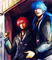Morphine Mizuki and Sly - DRAMAtical Murder - by KiraiRei