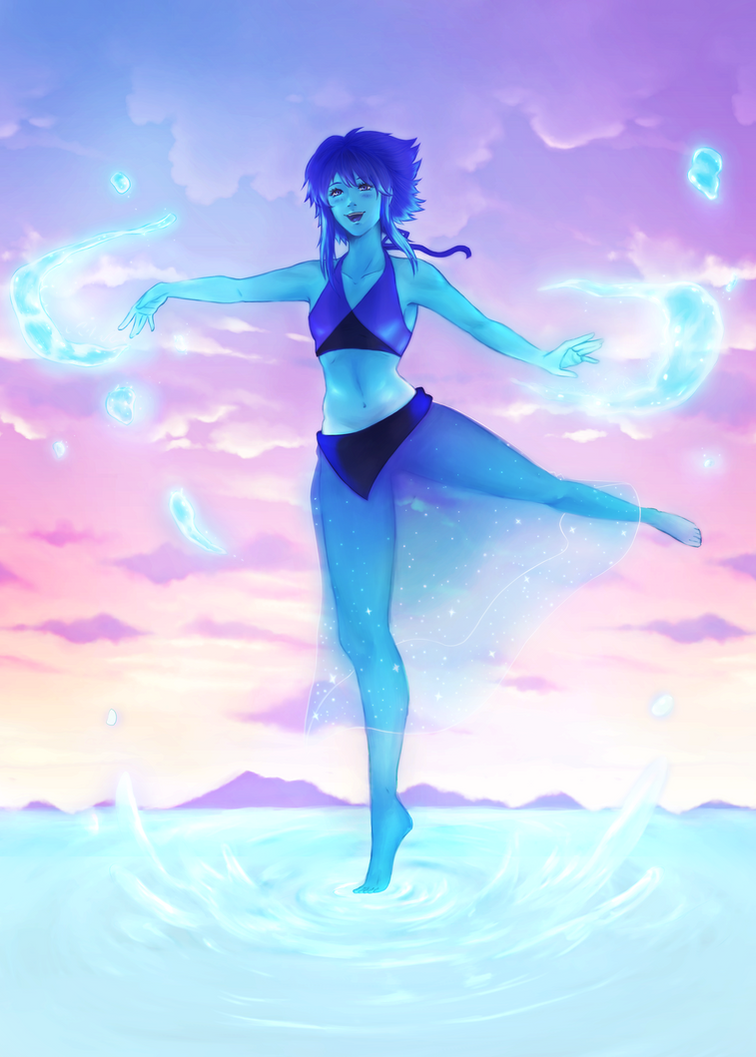 Lapis is a cute ocean gem... <3 Fb art: www.facebook.com/kiraireiart/